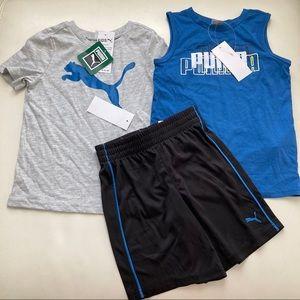 Puma boy active shorts set 2197